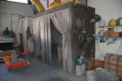 Have a blast. This is where the sand blasting happens.
