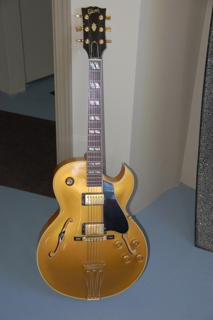 Dan's Gibsons electric.